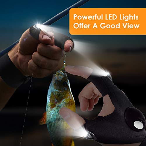 Gifts for Men Father Day, LED Flashlight Gloves Dad Men Gifts, Light Gloves Gifts for Women, Boyfriend, Husband, Hand…