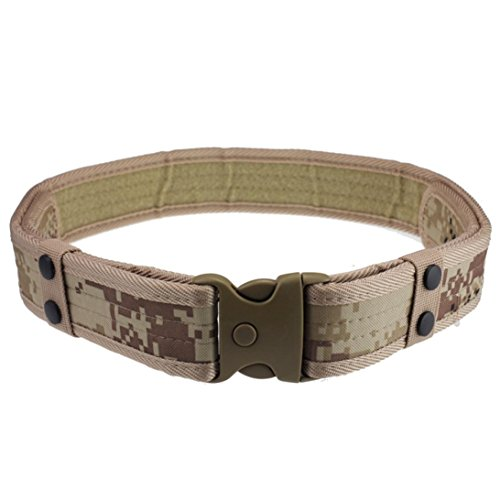 [Hometom New Durable Woodland Camo Waistband Tactical Hunting Outdoor Sports Field Belt (Khaki)] (35 Mm Bridle)