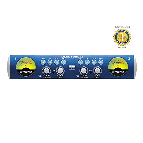 PreSonus BlueTube DP v2 2-channel Microphone Preamplifier with 1 Year Free Extended (Blue Tube Dp Mic Preamp)