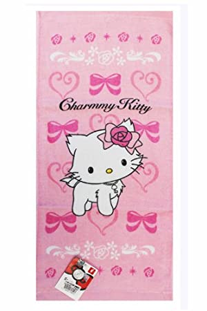 b94e79865 Sanrio Hello Kitty Charming Crown Beach/Bath Towel - Pink: Amazon.co.uk:  Toys & Games