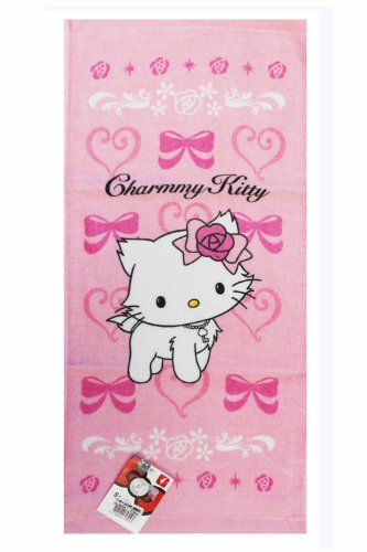 (Pink Charmmy Kitty Towel - Charmmy Kitty Beach Towel)