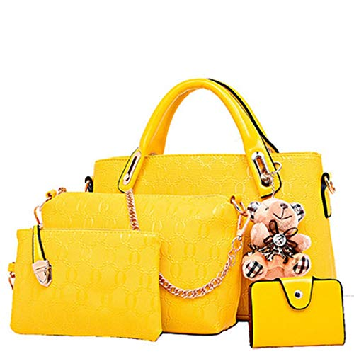 Wallet Bags Set Basic Backpack Pieces Messenger Shoulder Casual 4PCS Bag 4 Women's Bag Handbag Crossbody Travel Classic Tote EqXfvRxw