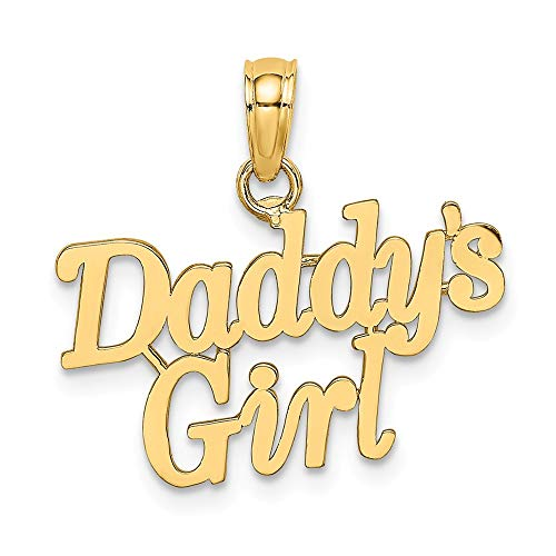 14k Yellow Gold Daddys Girl Pendant Charm Necklace Fine Jewelry Gifts For Women For Her