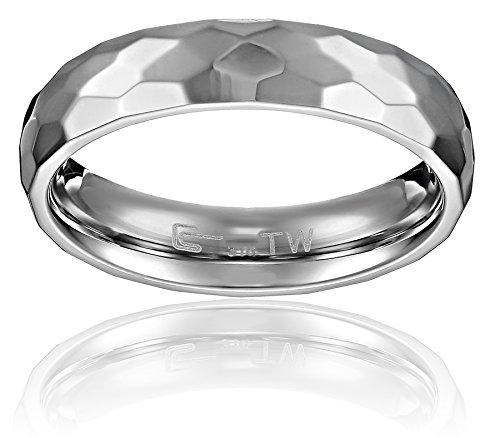 Stainless Steel Hammered Plain Wedding
