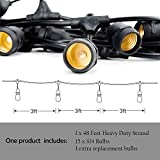 Outdoor String Lights Led 48 Ft,Waterproof