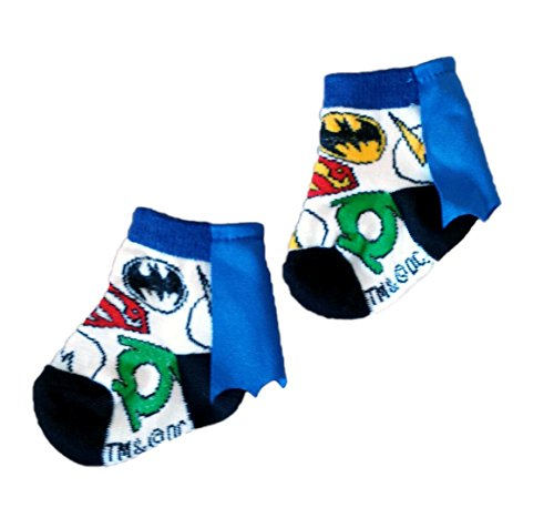 Justice League Infant Baby Socks with Cape, DC Comics, Multicolored, 0-12 (Justice League Babies)