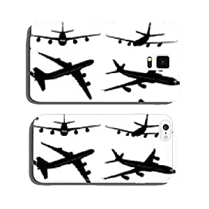 big commercial airplanes silhouettes - vector cell phone cover case Samsung S6