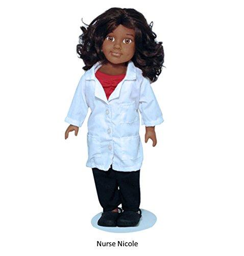 "The Nurse Dolls - Nurse Nicole African American Doll - 18"" Tall, Dressed in Full Nurse Uniform (Ages 3+)"