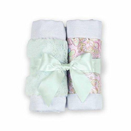 - Bearington Bears Lil Hoots Paisley Baby Burp Cloth Set of 2