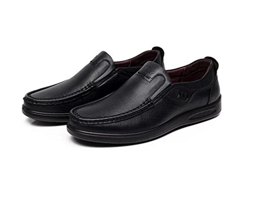 GRRONG Zapatos De Cuero De Los Hombres De Negocios Traje De Etiqueta De Piel Genuina Negro Marrón Black