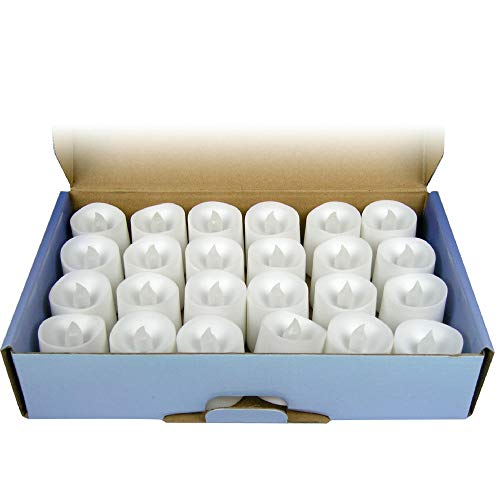 LED Flameless Candles - Set of 24 Flickering Votive Candles - Banberry Designs - LED - Flame Free Votive -
