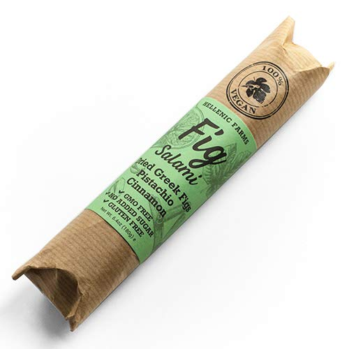 Greek Fig Salami with Pistachio & Cinnamon by Hellenic Farms (8.8 ounce) ()