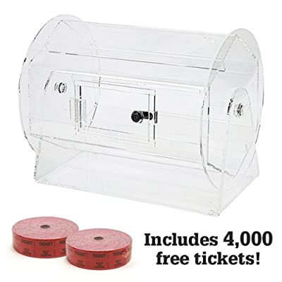 Image of Casino Equipment Medium Acrylic Raffle Drum w/4,000 Free Tickets by Midway Monsters
