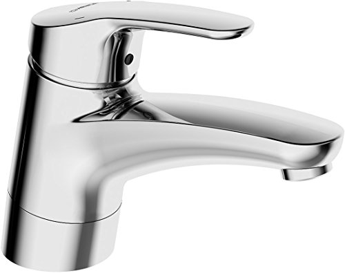 (Hansa Hansamix Wash Basin Mixer Tap with Pivoting Spout without Drainage Fitting Chrome-Plated 01182183)