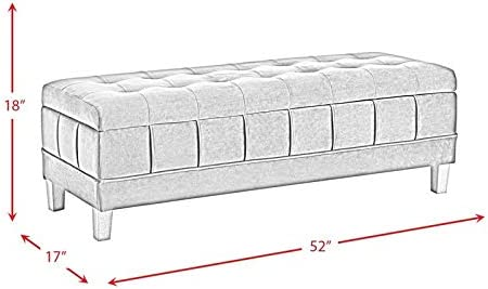 Picket House Furnishings Jude Tufted Storage Ottoman