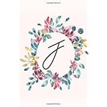 J: Personalized Notebook Journal for florists, wedding planner, bride's maid gift, wedding decorators with floral cover college lined