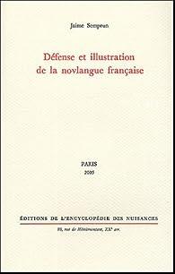 Défense et illustration de la novlangue française par Jaime Semprun