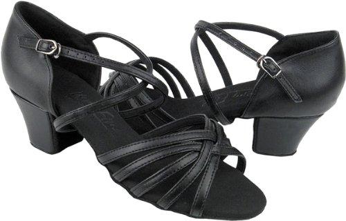 Damer Kvinner Ballroom Dans Sko Fra Veldig Fine C1670c Sort Skinn 1,6 Cuban Heel