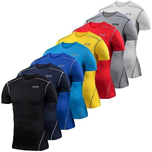 TCA Pro Performance - Herren/Jungen Funktionsshirt/Kompressionsshirt mit kurzen Ärmeln - Pro White - L