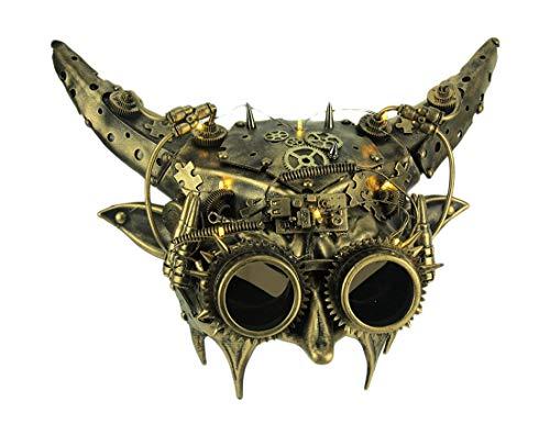 Mechanical Devil Light Up Adult Horned Steampunk Demon Mask -