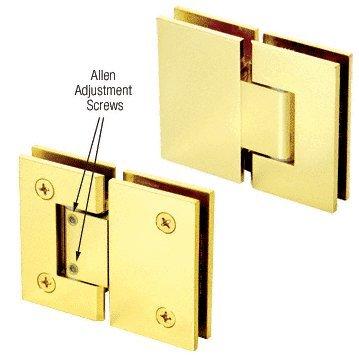 CRL Brass Vienna 380 Series Adjustable 180 Degree Glass-to-Glass Hinge
