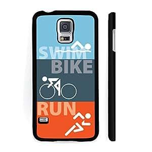 Samsung Galaxy S5 Black Slim Plastic Case - Triathlon Swim Bike Run