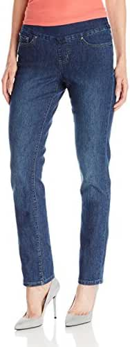 Jag Jeans Women's Peri Pull-on Straight Leg Jean in Comfort Denim
