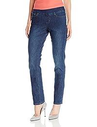 Women's Peri Pull-on Straight Leg Jean in Comfort Denim