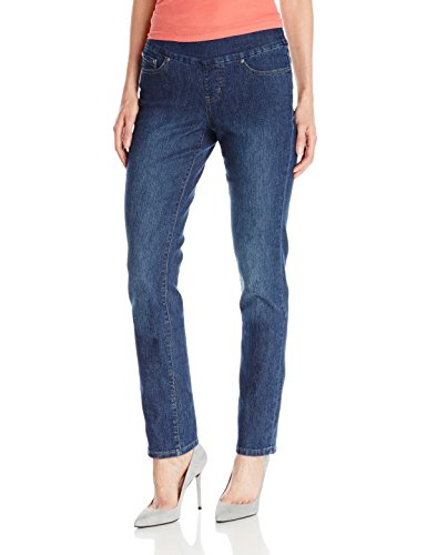 (Jag Jeans Women's Peri Straight Pull on Jean, Anchor Blue, 10 )