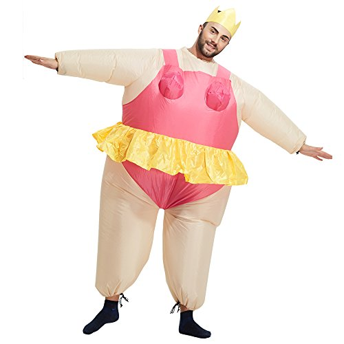 TOLOCO Inflatable Costume   Inflatable Costumes For Adults Or Child   Halloween Costume   Blow Up Costume (Ballet-Adult) by TOLOCO (Image #2)