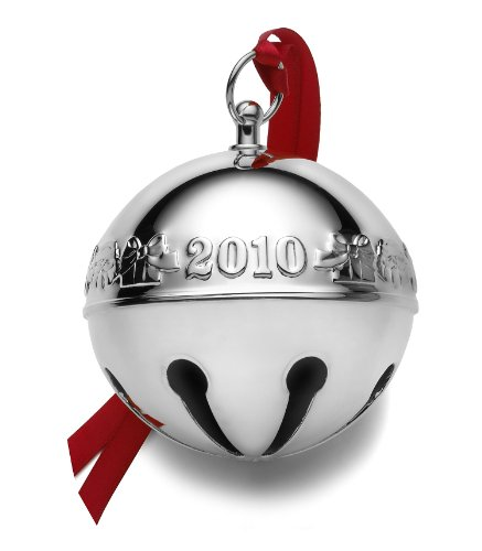 Wallace Christmas Ornament, 2010 Silver Plated Sleigh Bell Wallace Silver Plated