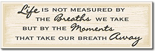 My Word! Life is Not Measured - Tan - 5x16 Wooden Sign -