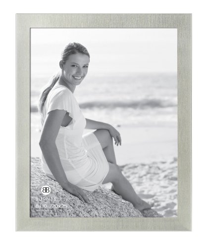 amazoncom burnes of boston c53080 brushed silver picture frame 8 inch by 10 inch home kitchen