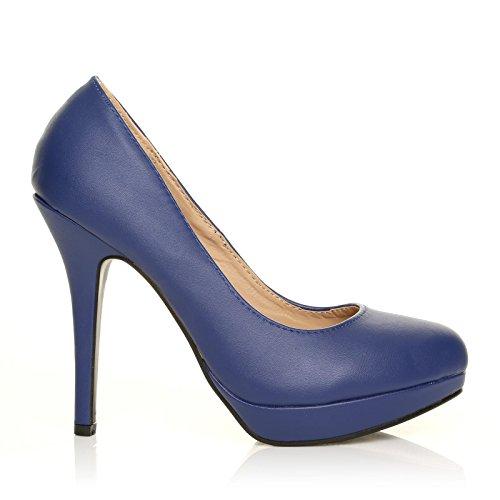 EVE - Chaussures à talons hauts - Plateforme - Bleu