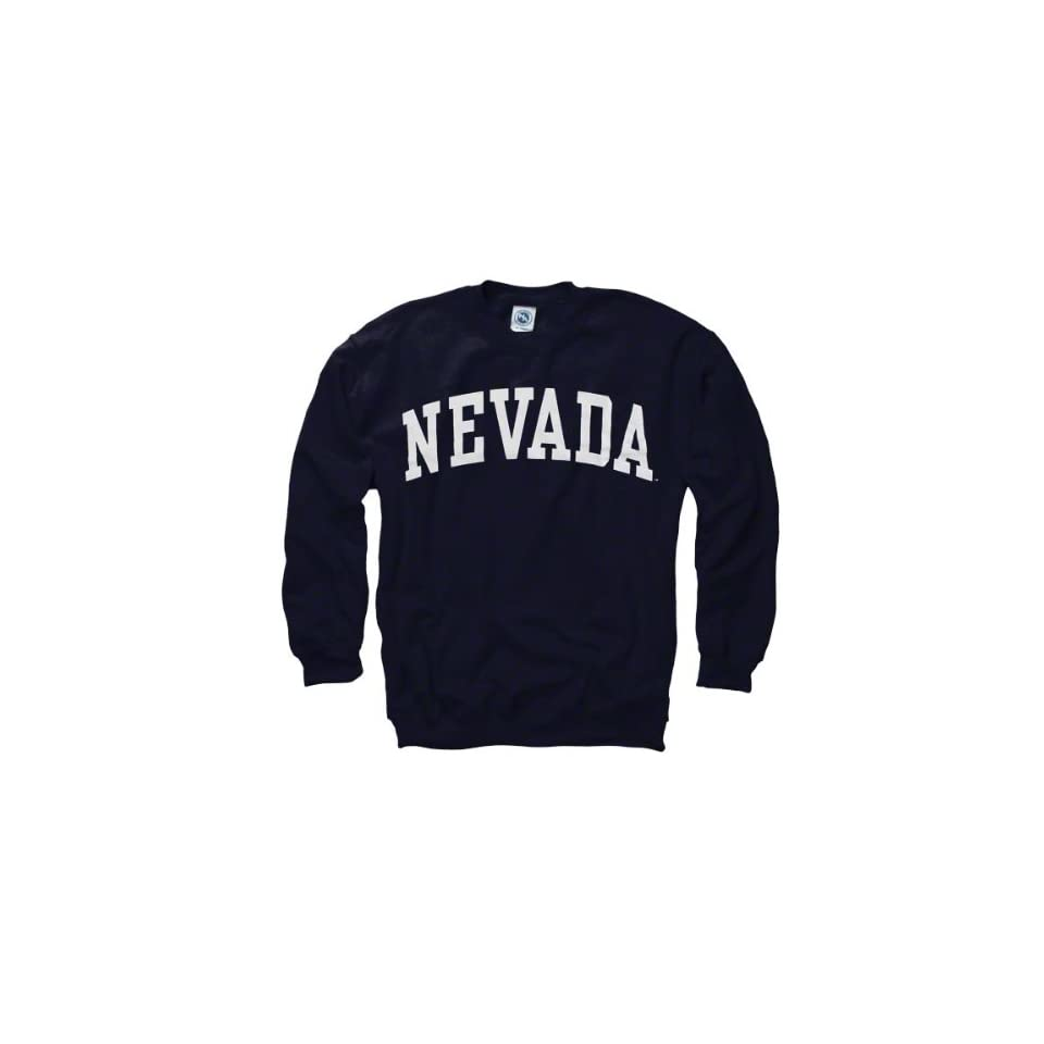 Nevada Wolf Pack Navy Arch Crewneck Sweatshirt