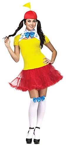 Alice In Costumes Dum Tweedle Wonderland (Alice in Wonderland Female Tweedle Dee or Dum Adult Costume)