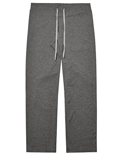 Trousers Pajama (Bhome Women's Maternity Comfy Palazzo Lounge Pants Pregnancy Loose Straight Leg Trousers Pajamas Charcoal S)