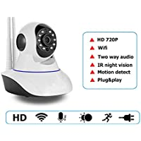 Dual antenna HD 720P Wireless IP Camera Wifi Night Vision IP Network Camera CCTV WIFI P2P Multi-stream WPS Two Audio Support Android IOS PC YooSee App