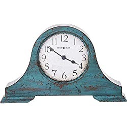 Howard Miller Tamson Mantel Clock 635-181 - Worn Teal Blue with Quartz Movement
