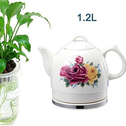 Leilims Bouilloires en céramique Bouilloire électrique sans Fil Eau Teapot, Teapot-Retro Jug, 1L Rapide (Size : 1.2L)