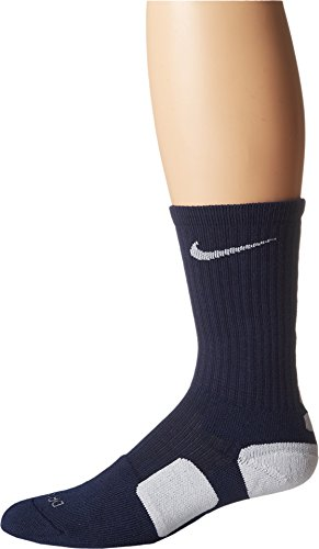 Nike Elite Men's Cushioned Crew Sock Dri-Fit Basketball (X-Large, MIDNIGHT - Elite Polyester Mens