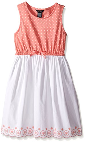 Nautica Girls Dress Polka Scalloped
