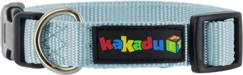 Kakadu Pet Empire Adjustable Nylon Dog Collar, 1-Inch by 20-34-Inch, Sky Blue, My Pet Supplies