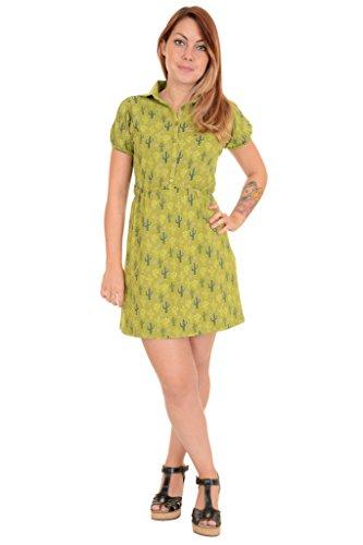 Run & Fly - Robe - Manches Courtes - Femme vert Golden Olive