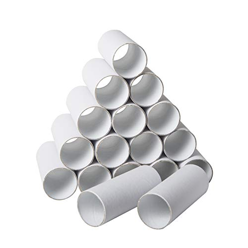 30 Pack Craft Rolls – Round Cardboard Tubes – Cardboard Tubes for Crafts – Craft Tubes – Paper Tube for Crafts – 1.57 x 3.9 Inches – White