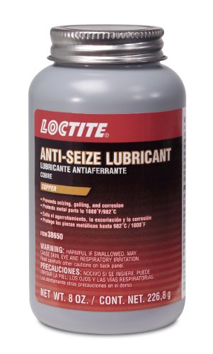 Loctite 38650-12PK Copper Anti-Seize Lubricant - 8 oz. Brush Top Cap, (Pack of 12) by Loctite