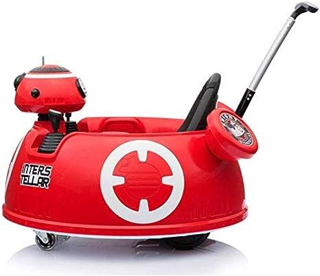 Mnjin Coche eléctrico para niños Robot programable de Bricolaje, Coche de Parachoques Robot, Luces LED de Colores + Control Remoto Mp3 + 2.4g + Putter portátil