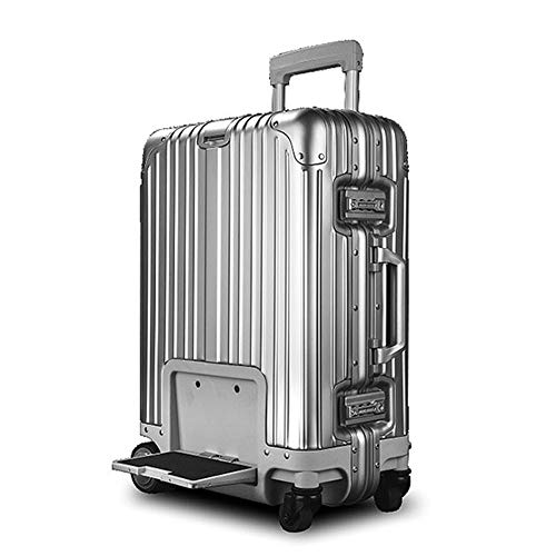 20-inch Electric Riding Suitcase, Intelligent Remote Control Follow Trolley Luggage, Fixed-Speed Cruise USB Charging…
