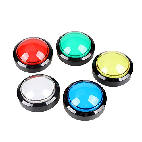 EG STARTS 5X New 60mm Dome Shaped LED Illuminated Push Buttons for Arcade  Coin Machine Operated Games 12V
