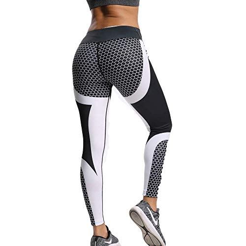 CROSS1946 Women's High Waist Print Legging Butt Lift Yoga Pants Flower Workout Stretch Capris M